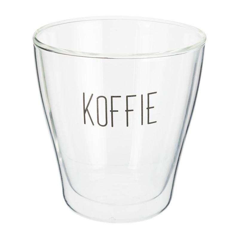 Dubbelwandig koffieglas - 30 cl