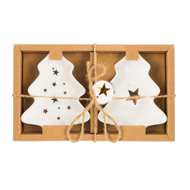 Bordje kerstboom - set van 2