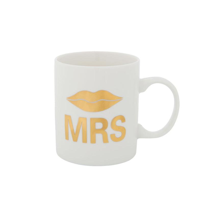 Mok MR/MRS - goud - 40 cl
