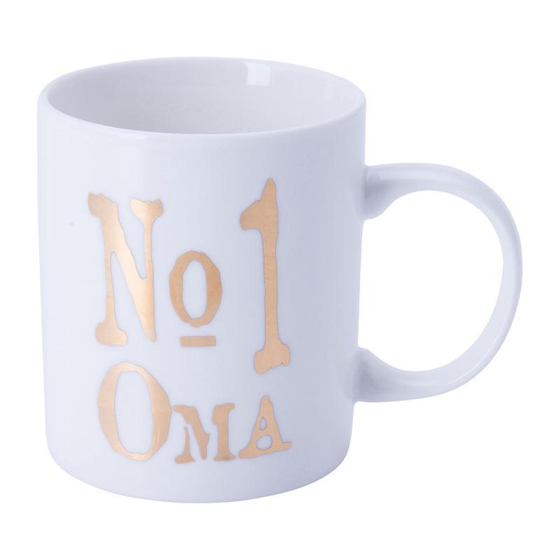 Mok nr1 Oma - 40 cl - wit