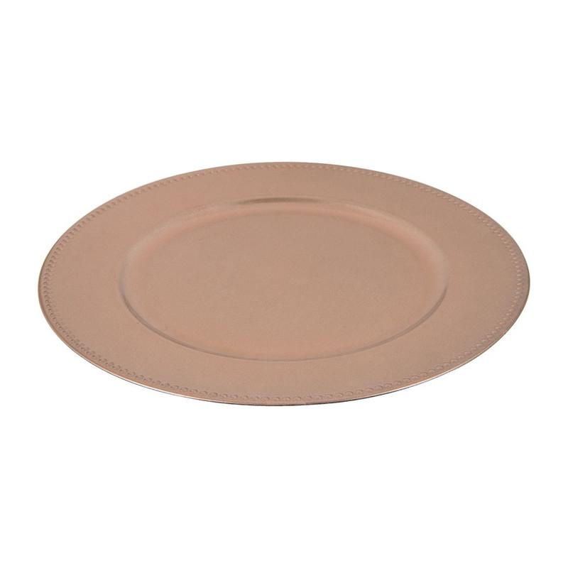 Onderbord - rosé - 32 cm