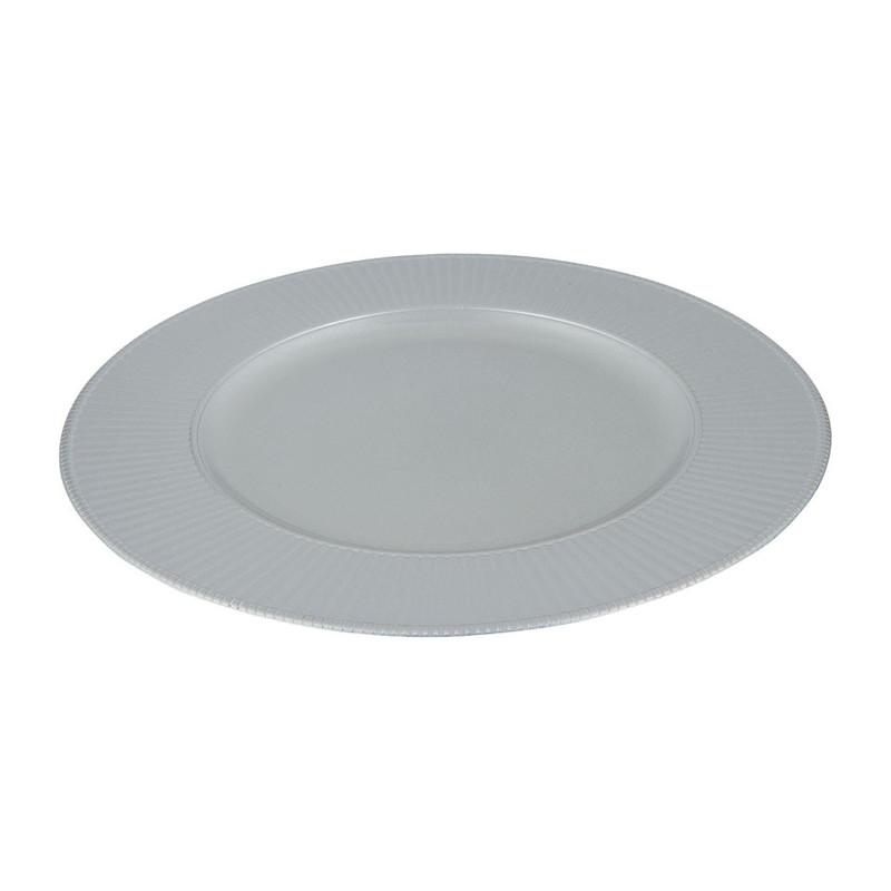 Onderbord - zilver - 32 cm