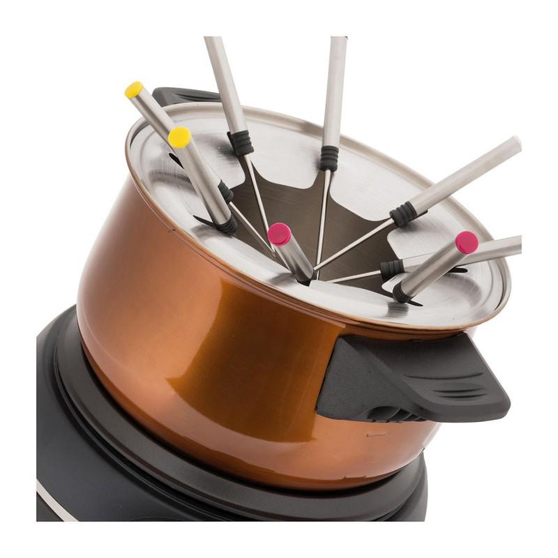 Emerio fondue-set - koperkleurig