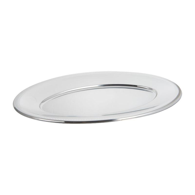 Ovale schaal - zilver - 45 cm - 2 stuks
