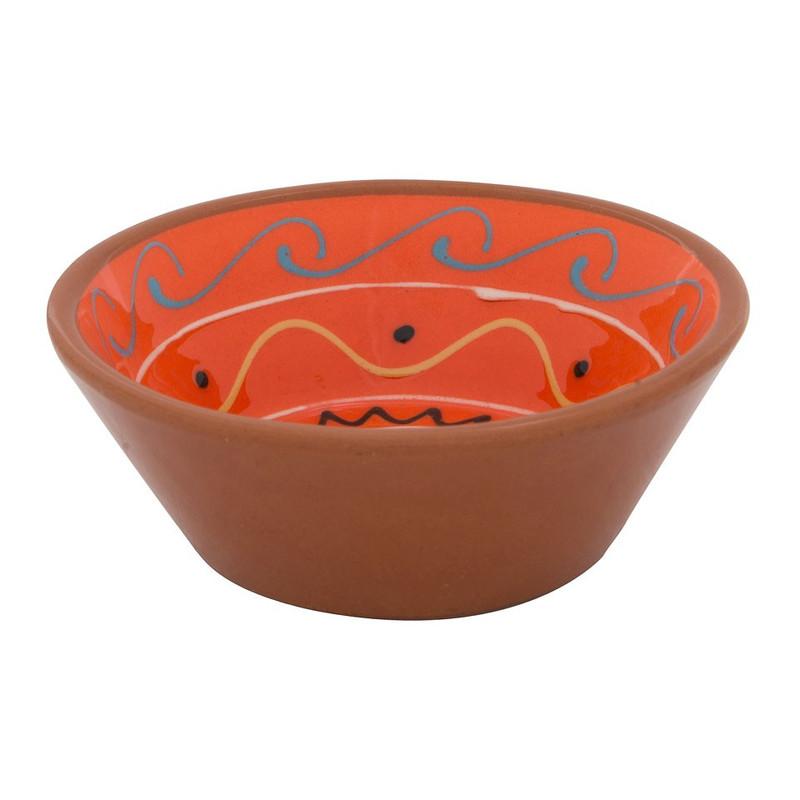 Schaal Fiesta - 11 cm - oranje