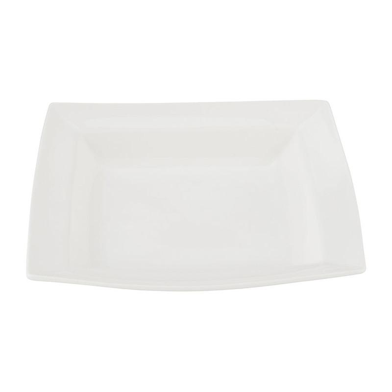Schaal vierkant - 26 cm - wit