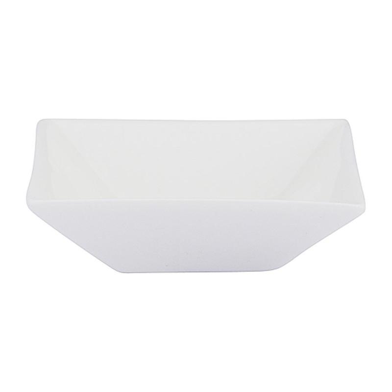 Schaaltje vierkant - 8 cm - wit