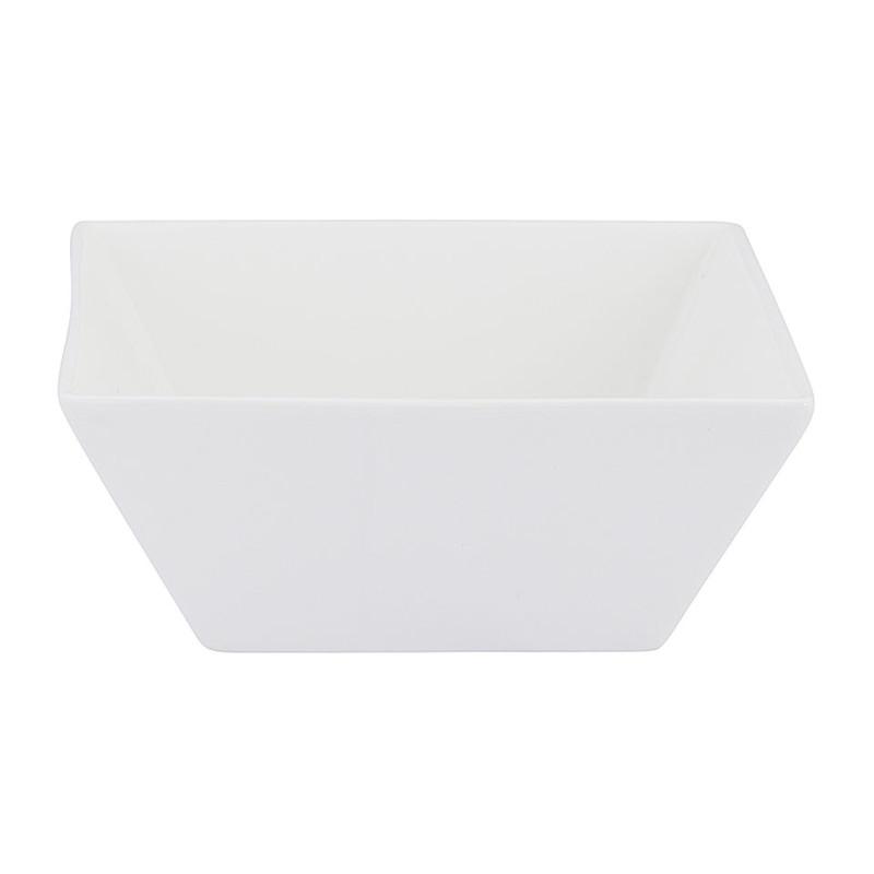 Kom vierkant - 14 cm - wit