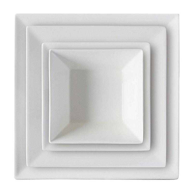 Serviesset - 16-delig - vierkant - wit