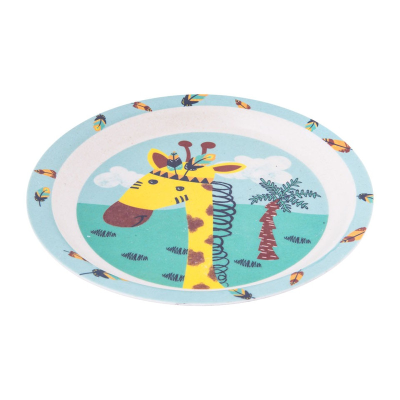 Kinderservies bord - bamboe - giraffe