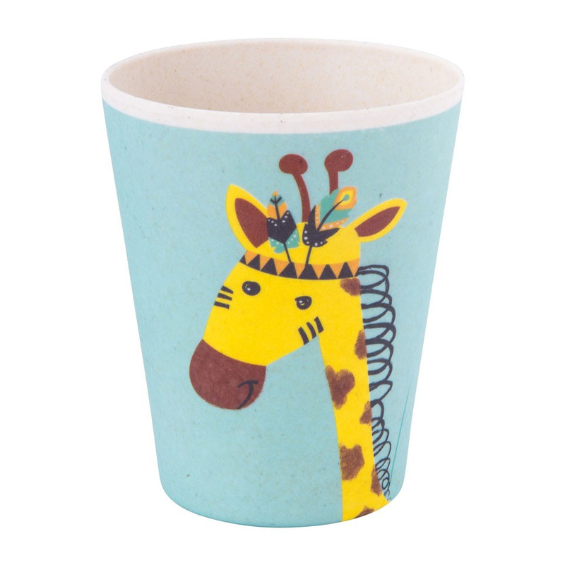 Kinderservies drinkbeker - bamboe - giraffe
