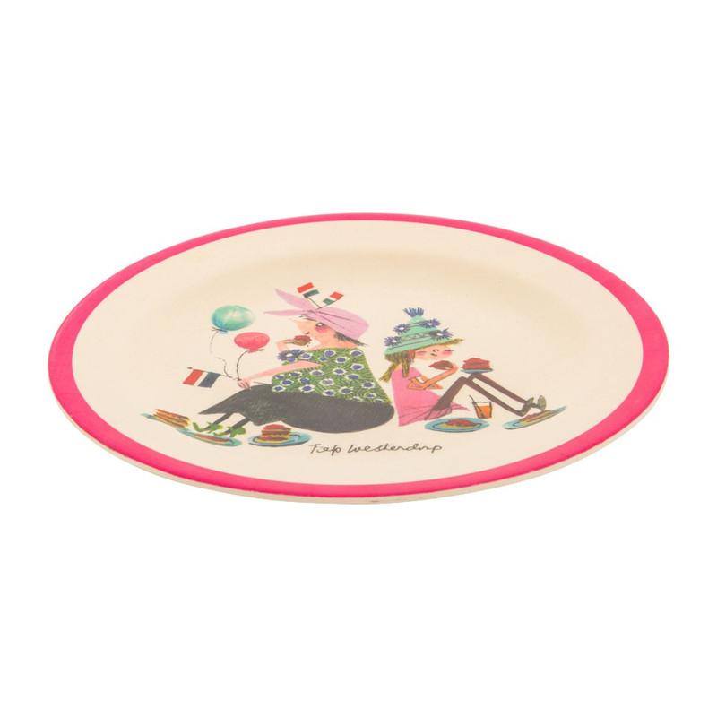Bord bamboe - Pluk van de Petteflet - roze