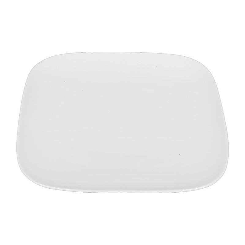 Ontbijtbord vierkant met ronde hoeken - 22 cm