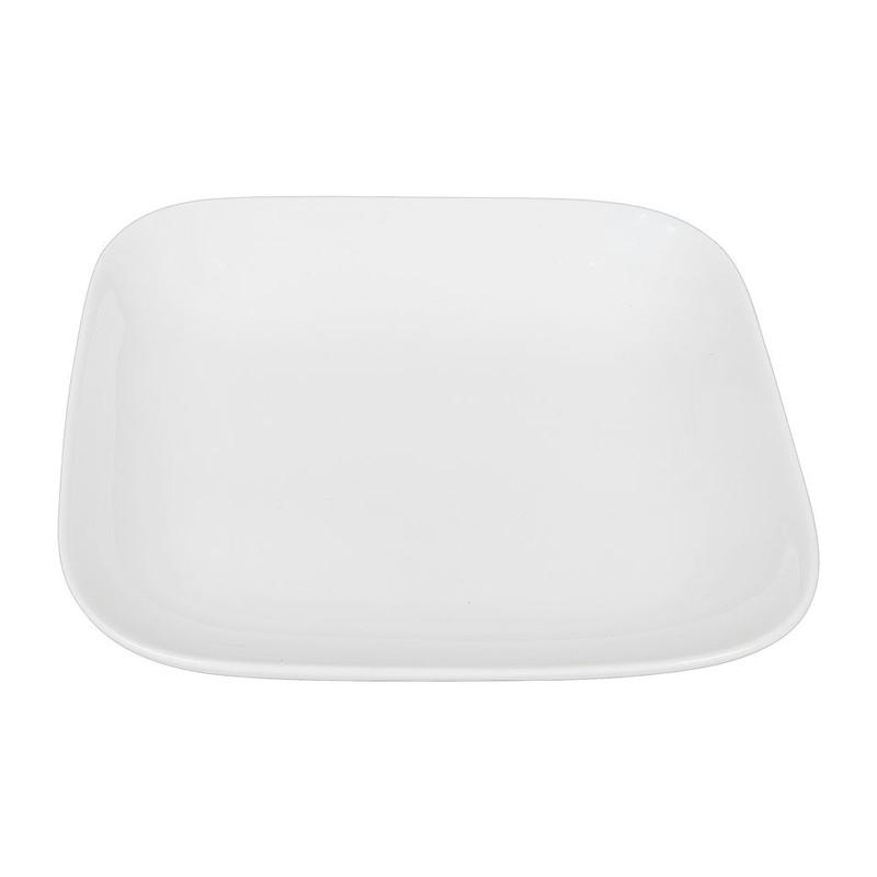 Diep bord vierkant met ronde hoeken - 22 cm