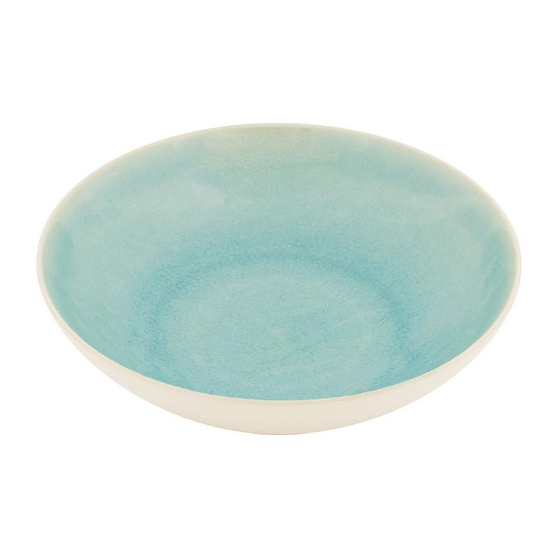 Diep bord Vagos - 21 cm - turquoise