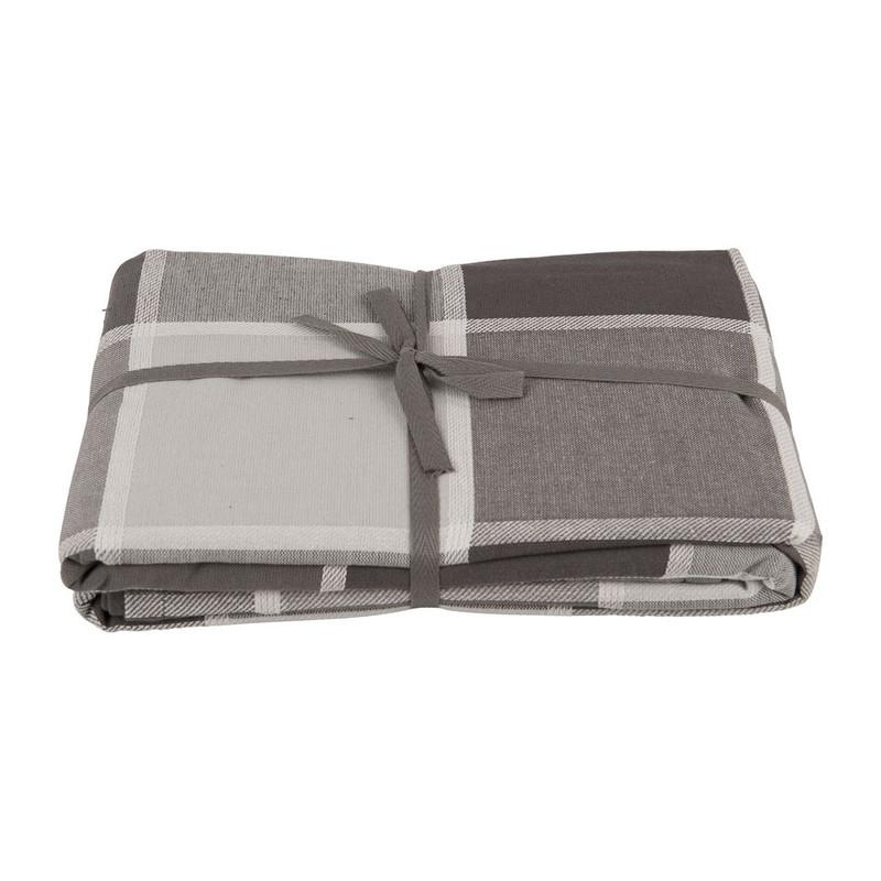 Tafelkleed ruit - 240x140 cm - grijs