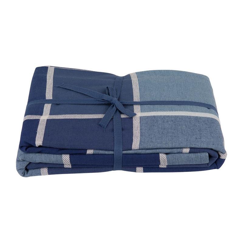 Tafelkleed ruit - 240x140 cm - blauw