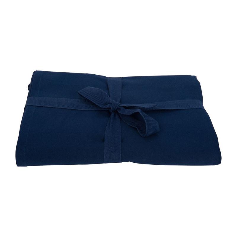 Tafelkleed uni donkerblauw - 140x180 cm