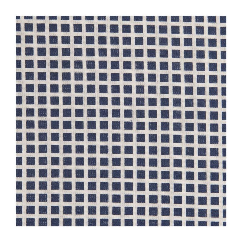 Tafelkleed met blokjes print - blauw - 140x200 cm