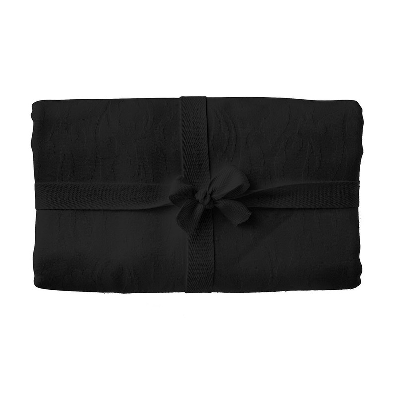 Tafelkleed Damast - 140x200 cm - zwart