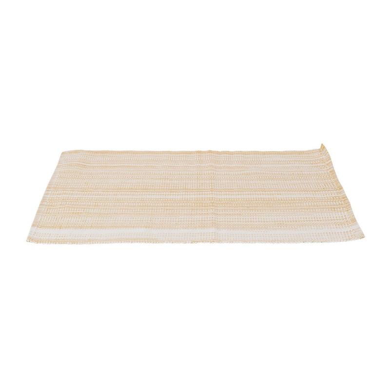 Placemat met goud lurex - 33x48 cm - crème