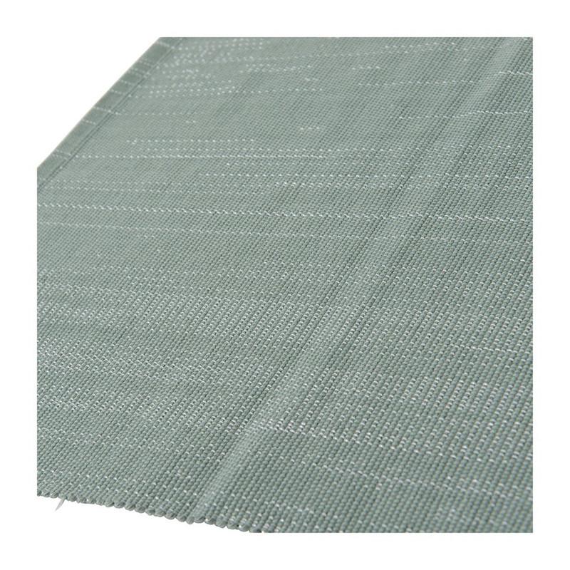 Placemat met zilver lurex - 33x48 cm - grijs
