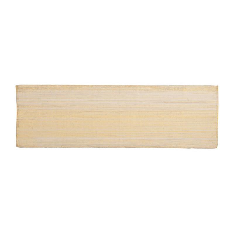 Tafelloper met goud lurex - 45x150 cm - Crème