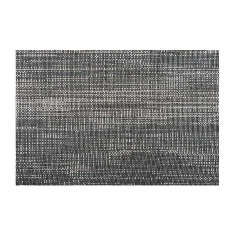 Tafelloper met zilver lurex - 45x150 cm - Grijs