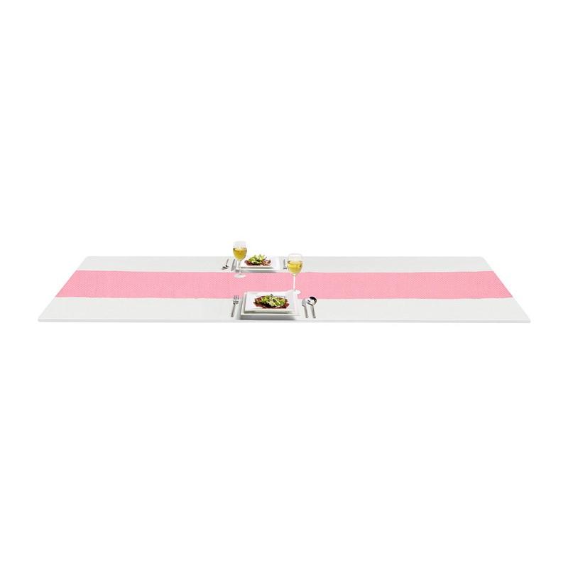 Tafelloper wafel - 45x150 cm - roze