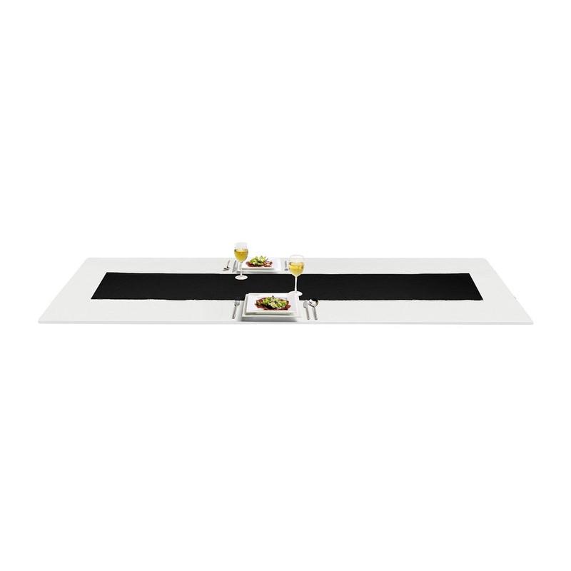 Tafelloper rib - 45x150 cm - zwart