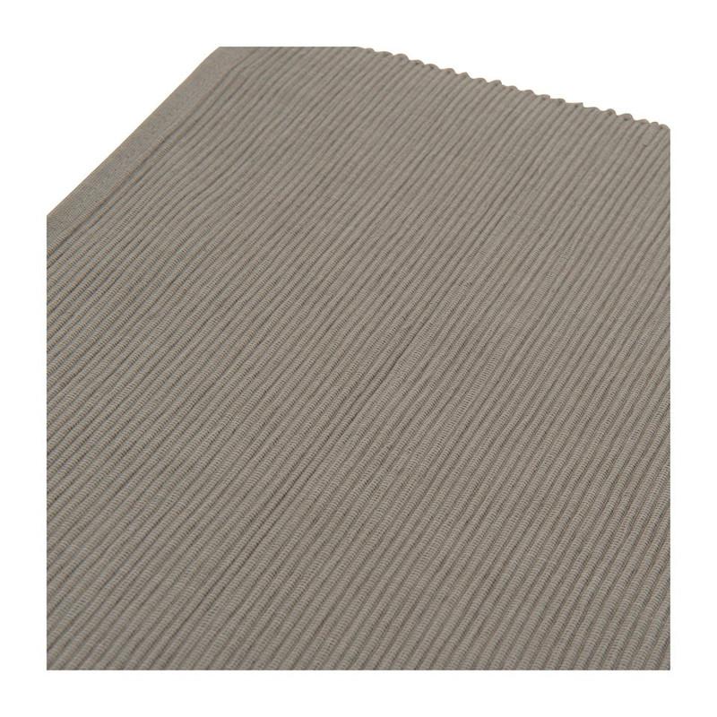 Placemat rib - 33x48 cm - grijs