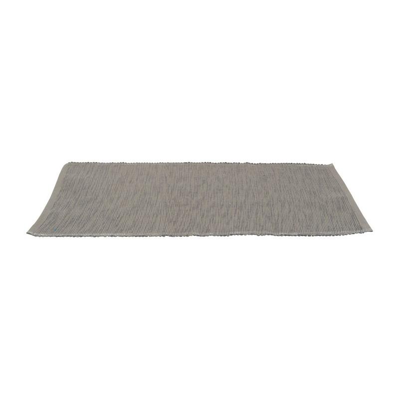 Placemat rand lurex  - 33x48 cm - grijs