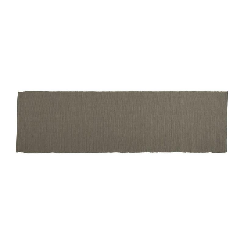 Tafelloper rib - 45 x 150 cm - grijs