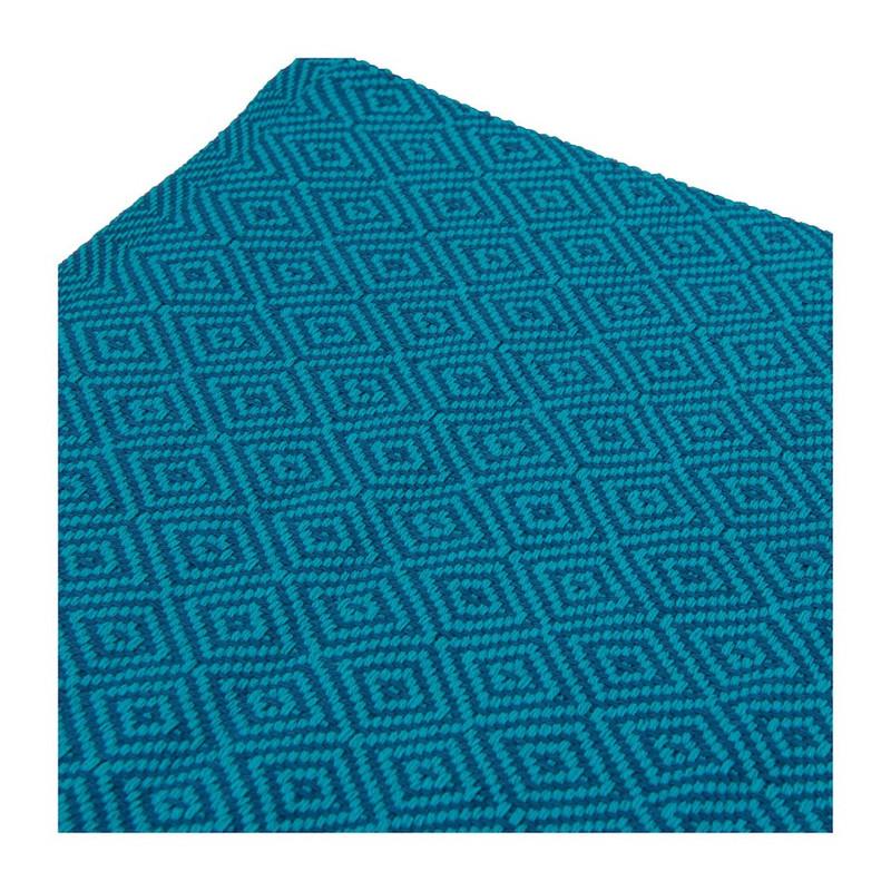 Placemat diamant - 33x48 cm - turquoise/petrol