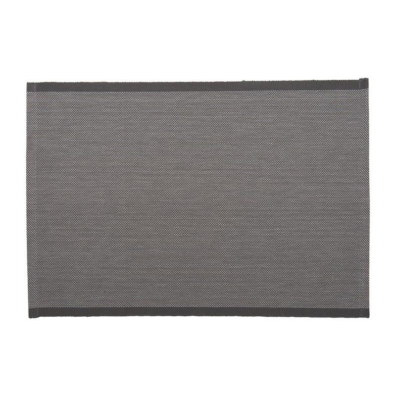 Placemat stipjes - 33x48 cm - grijs