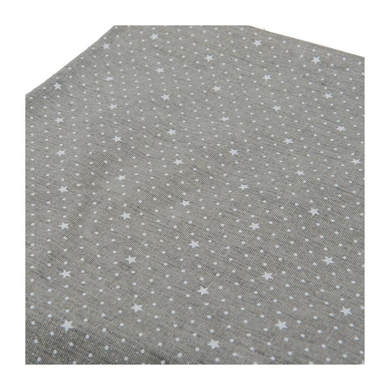 Tafelkleed met sterren - grijs - 140x200 cm