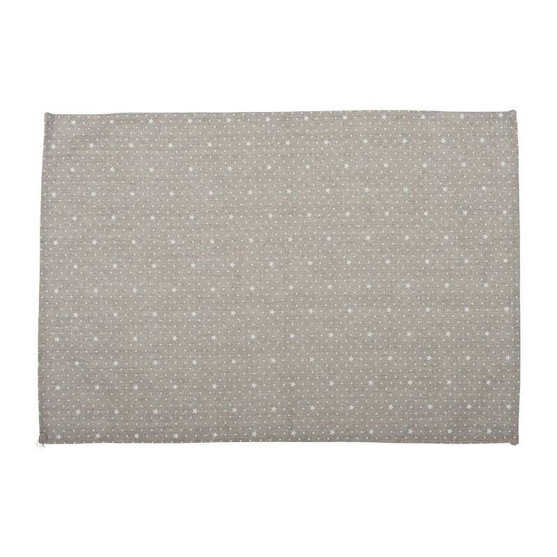 Placemat sterretjes - 33x48 cm - grijs