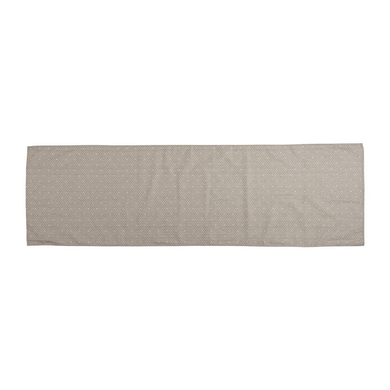 Tafelloper mini ster - 45x150 cm - grijs
