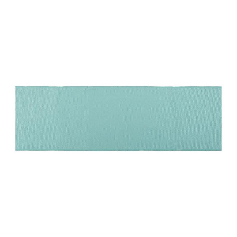 Tafelloper wafel - 45x150 cm - turquoise