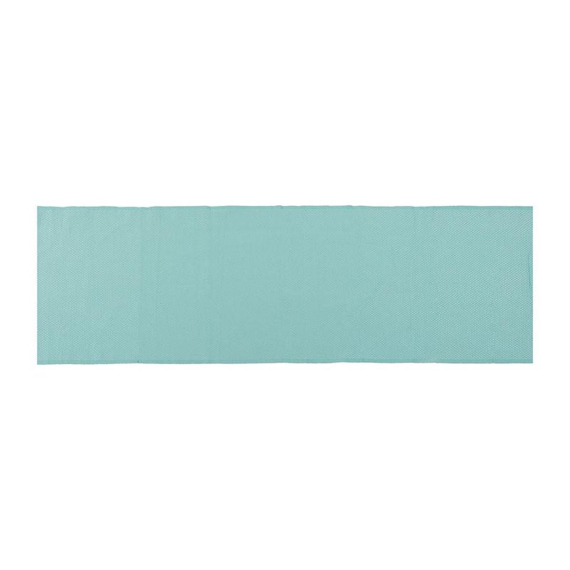 Tafelloper wafel - 45x240 cm - turquoise