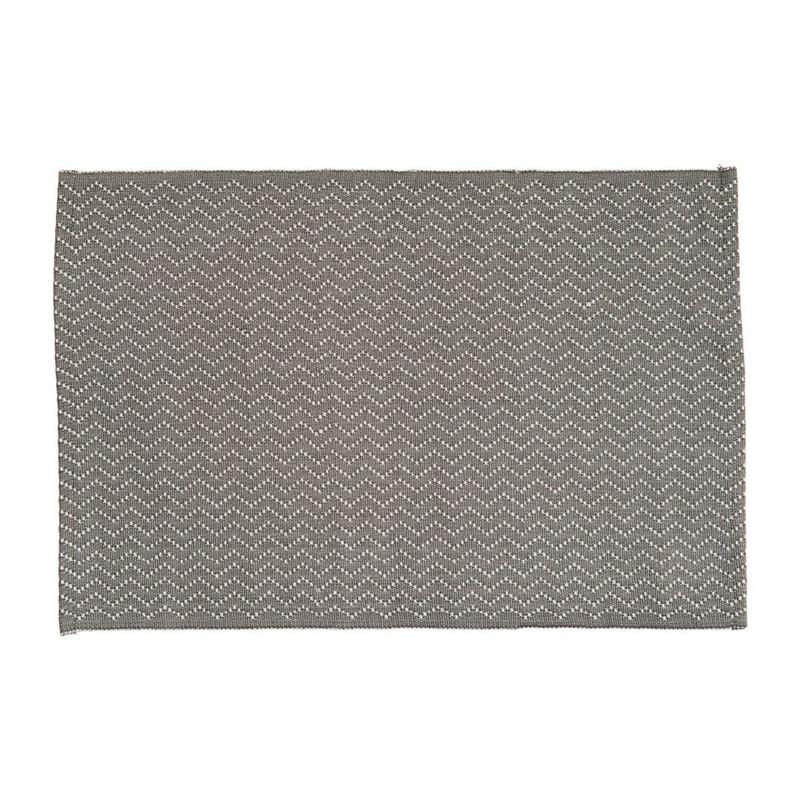 Placemat zigzag - 48x33 cm - grijs