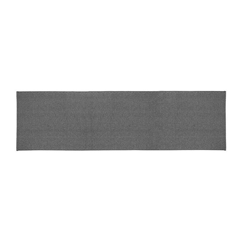 Tafelloper zigzag - 45x150 cm - grijs