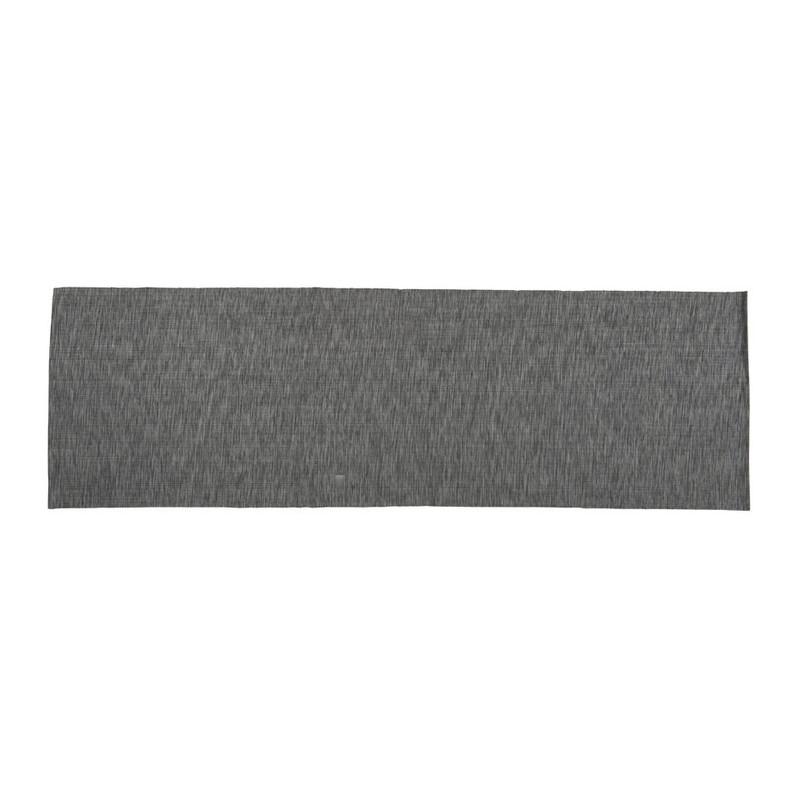 Tafelloper melange - grijs - 45x150 cm