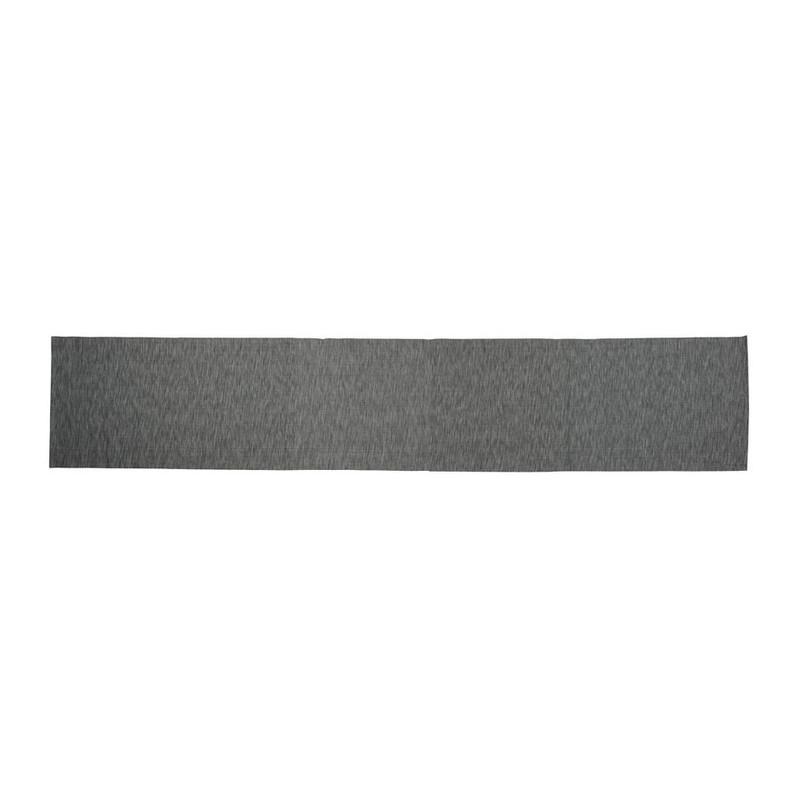 Tafelloper melange - grijs - 45x240 cm