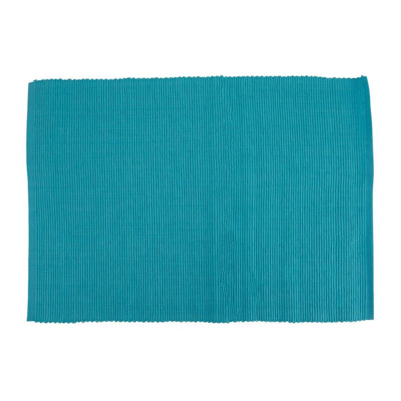 Placemat rib - 33x48 cm - blauw