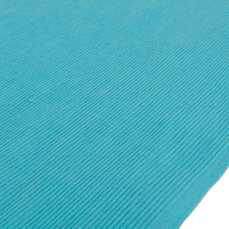 Tafelloper rib - 45x150 cm - blauw