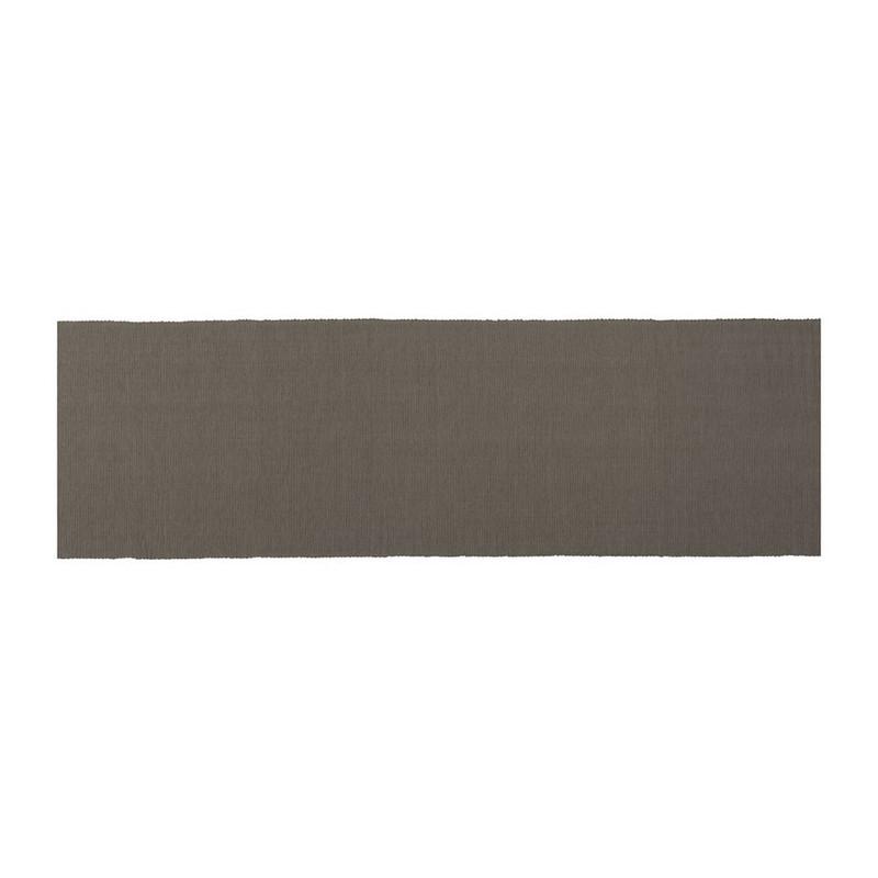 Tafelloper rib - 45x240 cm - grijs