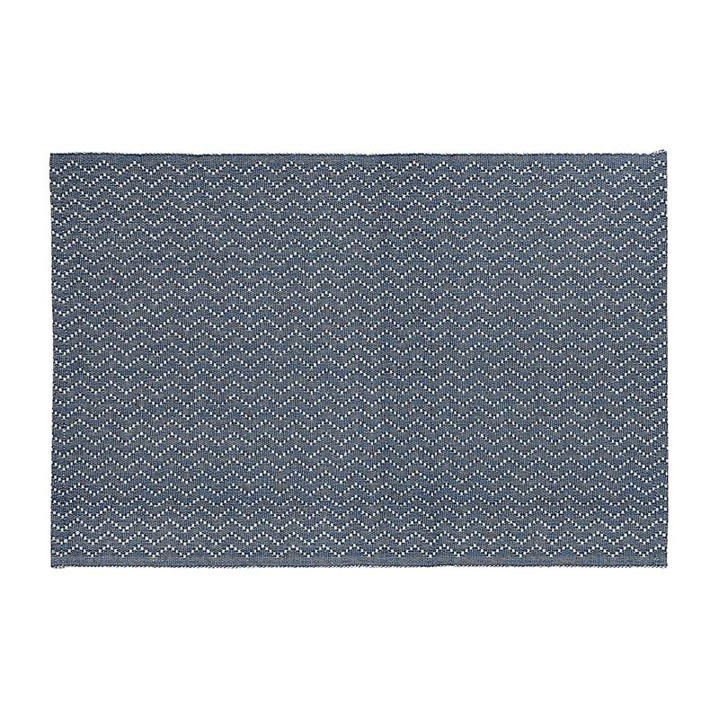 Placemat zigzag - 48x33 cm - blauw