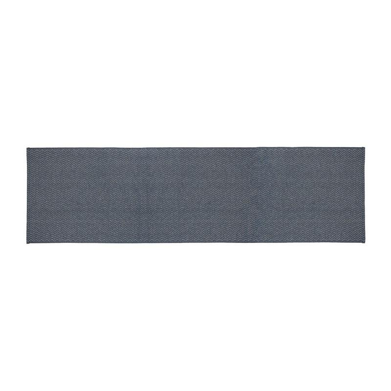 Tafelloper zigzag - 45x150 cm - blauw
