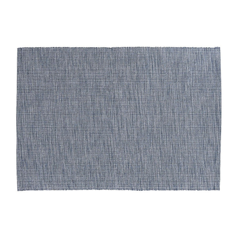 Placemat melange - blauw - 48x33 cm